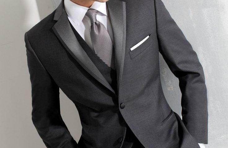 Custom made Size and Color Two Buttons Groom Tuxedos Dark Blue ...