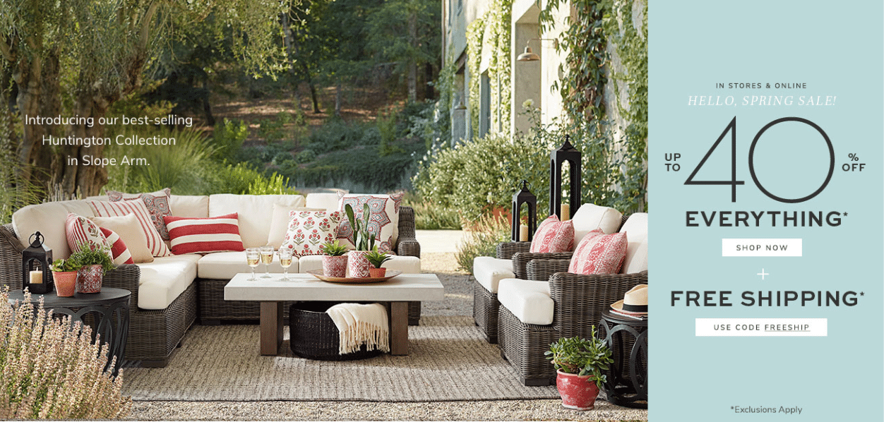potterybarn offers